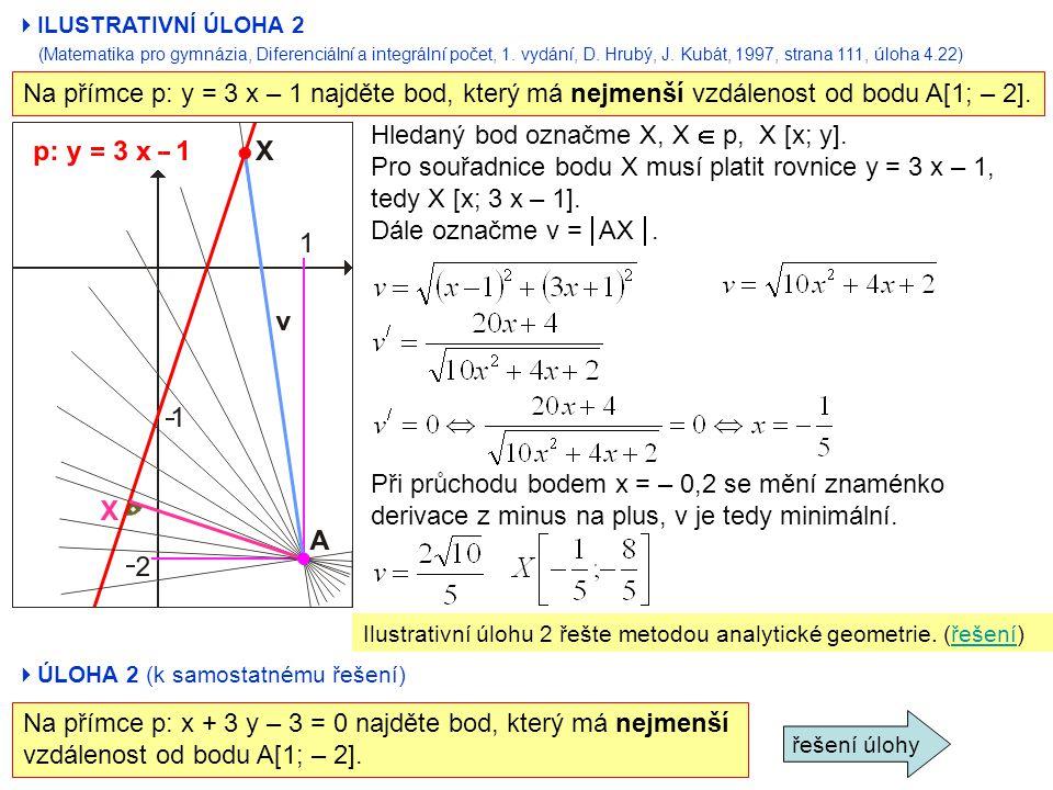 Hledaný bod označme X, X  p, X [x; y].